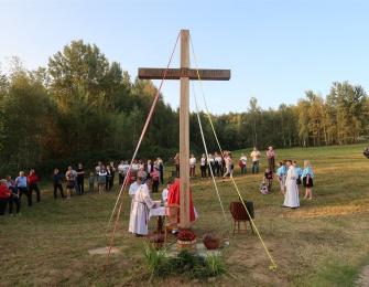 Poświęcenie odnowionego Krzyża